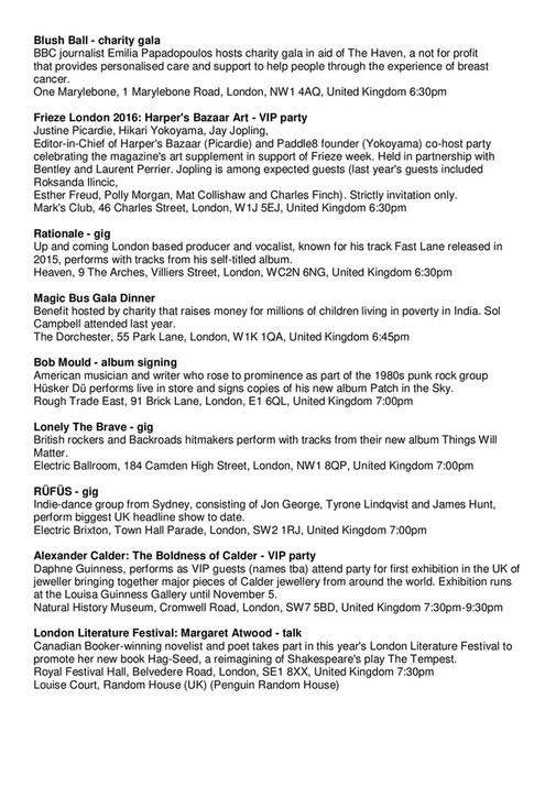Sincura Concierge Ltd - chrome+ members newsletter October 2016