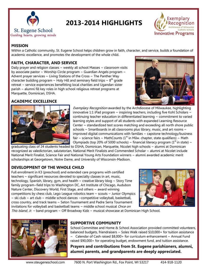 St  Eugene - 2013-2014 Highlights - Page 1 - Created with Publitas com