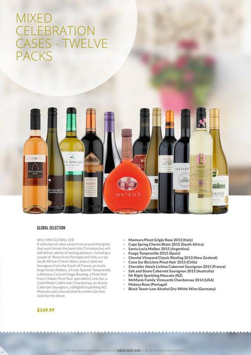 Wine Central Christmas Guide 2016 6 Bottle Bordeaux Open Wooden