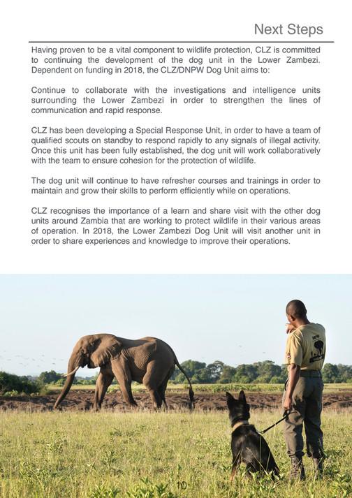 CLZ - DNPW Dog Unit Lower Zambezi - Annual Report 2017