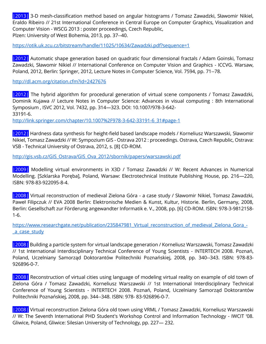 My publications - Full publication list - Page 2 - Created