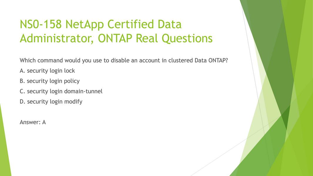 Examgood Examunion Ns0 158 Netapp Certified Data Administrator