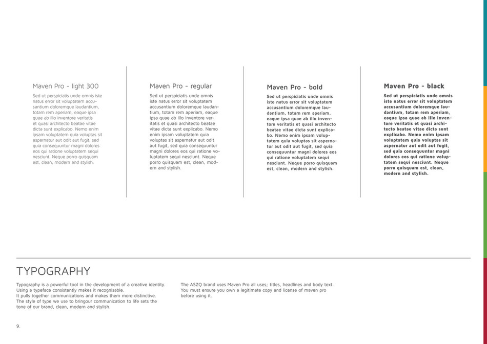 Lavadesign - ASZQ Brand Guidlines - Page 8-9 - Created with Publitas.com