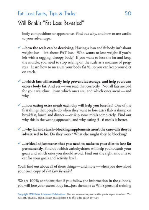 My publications - Fat Loss Workout-Tips - Page 50-51 - Created with