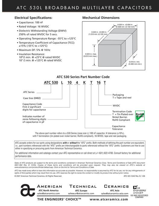 CAPACITOR FAKS - ATC 530L Series Broadband Capacitors - Page 2