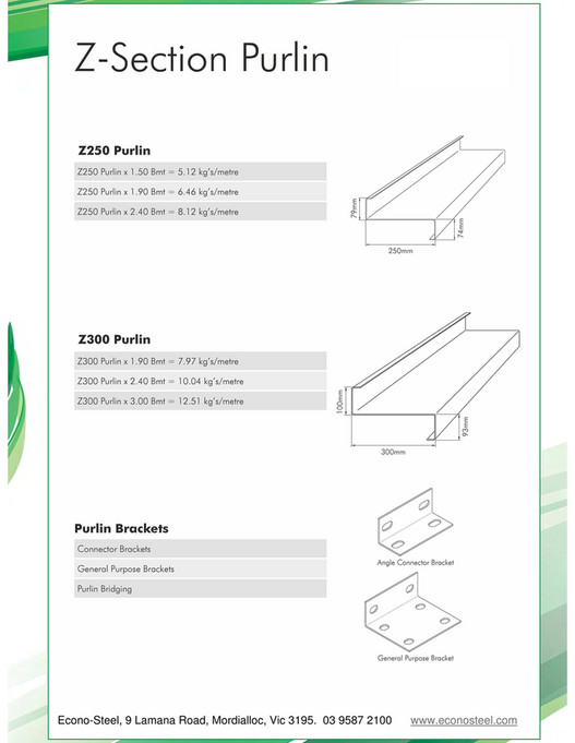 EconoSteel - Purlins and structural Products - Page 12-13 - Created