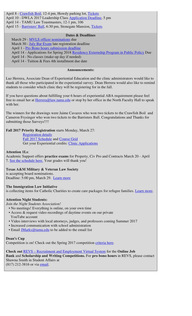 My publications - March 29th Aggie Legal News - Page 2 - Created