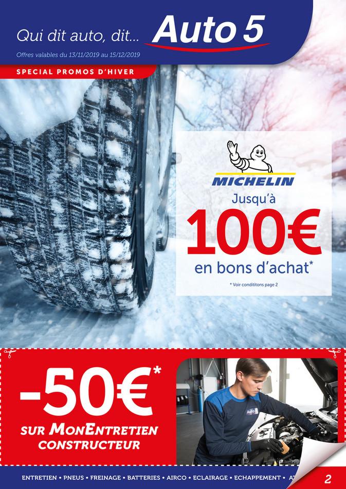 Folder Auto5 du 13/11/2019 au 12/12/2019 - Promotions Prépa hiver
