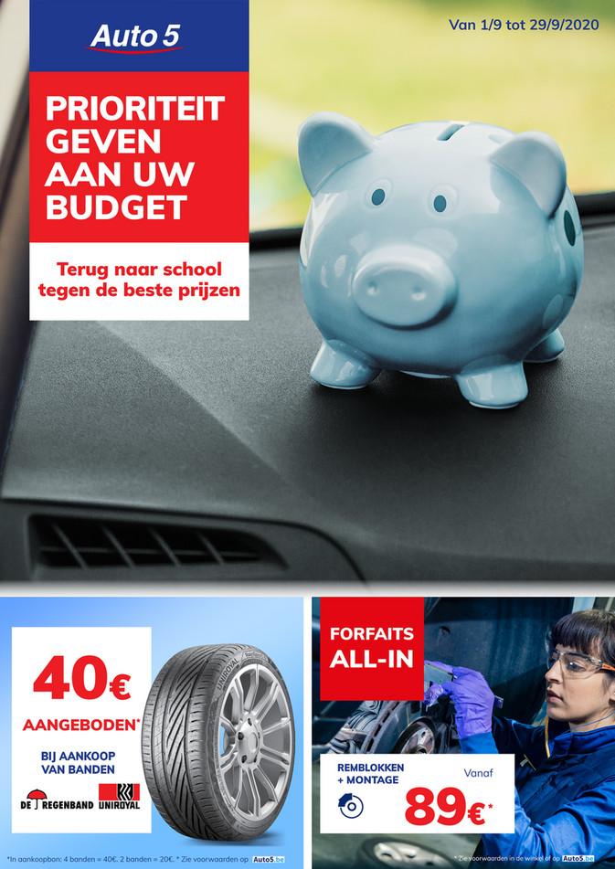 Auto5 folder van 08/09/2020 tot 29/09/2020 - Maandpromoties september
