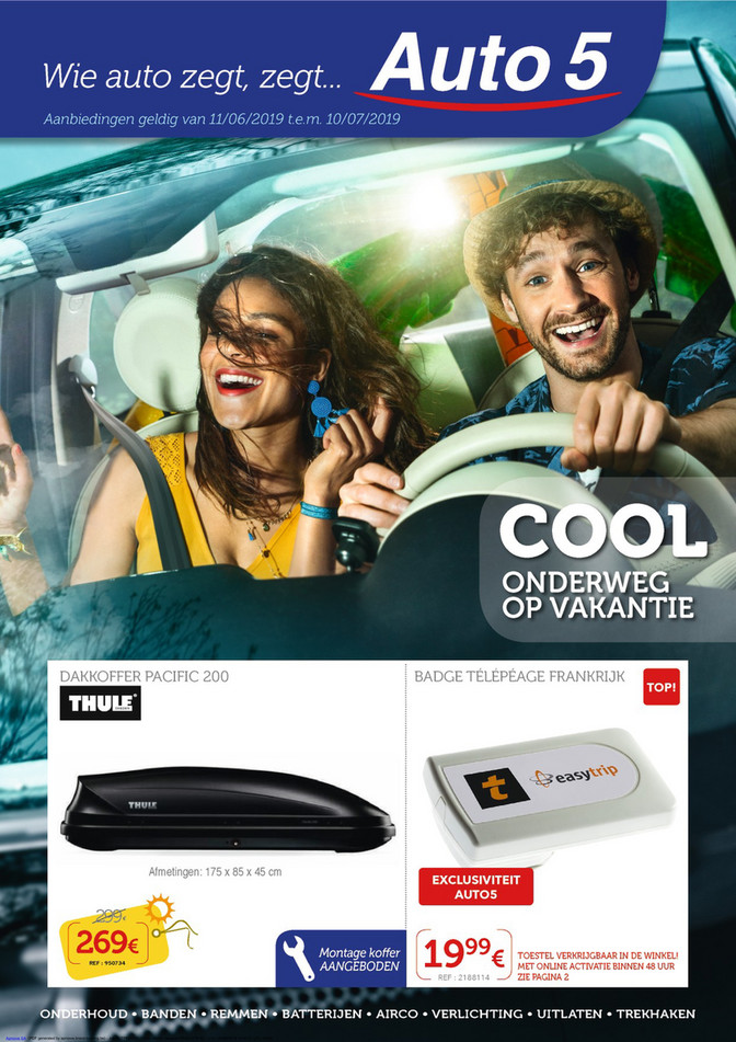 Auto5 folder van 11/06/2019 tot 10/07/2019 - Maandpromoties