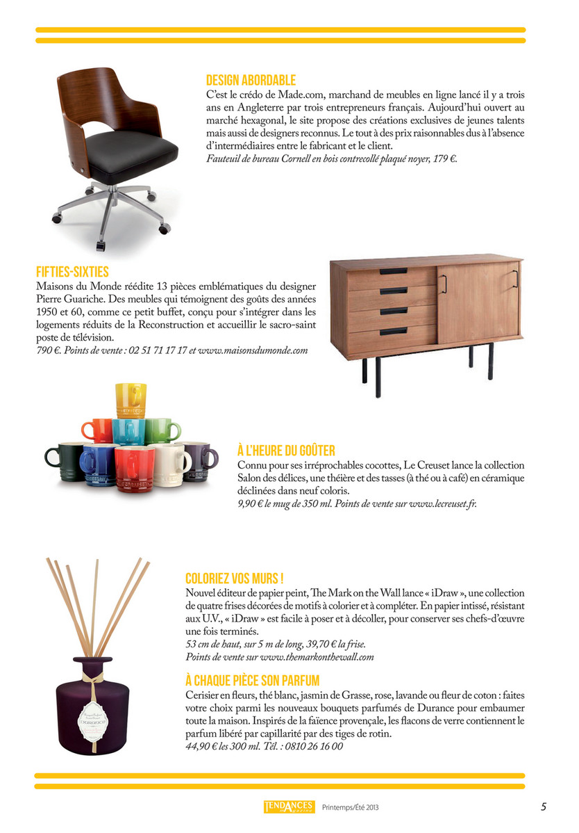 Www Made Com Fr my publications - tendances magazine - page 4-5 - created