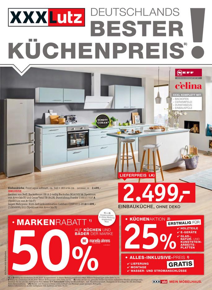 Xxxlutz Prospekt Küchen Prospekt Angebotde