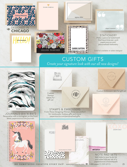 Paper Source Celebrations 1 Catalog 2017 Pure White Business Cards