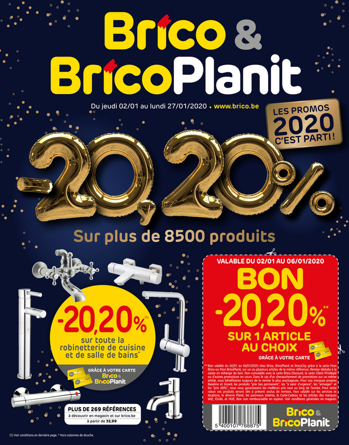 Folder Brico du 02/01/2020 au 27/01/2020 - Promotions de la semaine 1