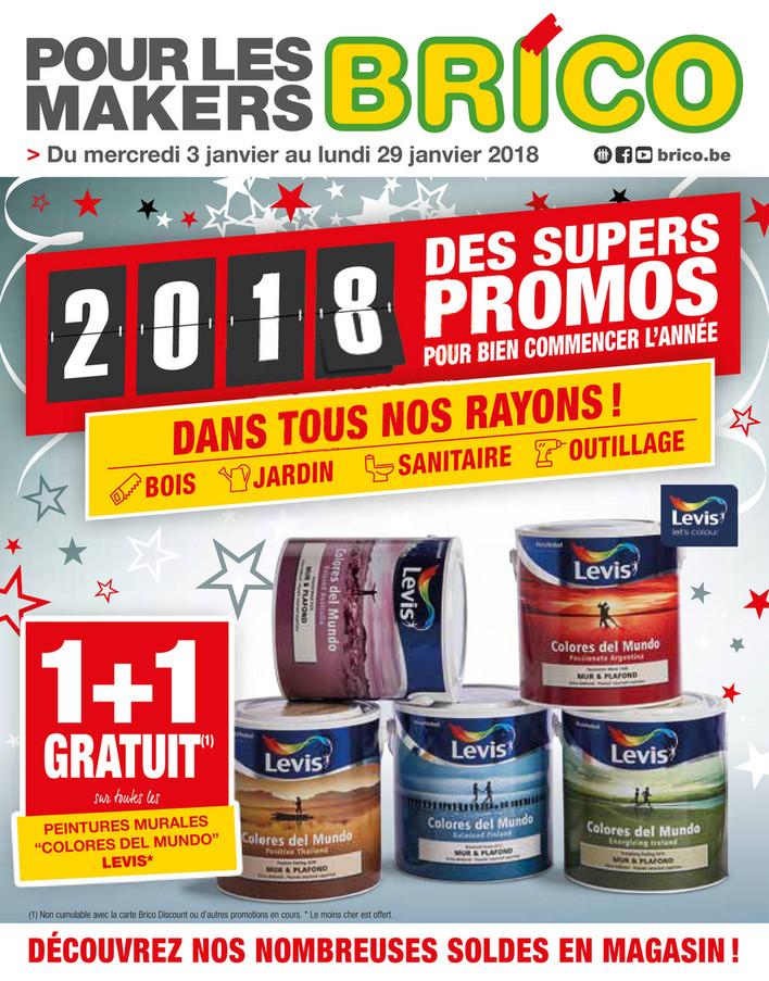 Folder Brico du 01/01/2018 au 29/01/2018 - Offres de la semaine nouveau an 2018
