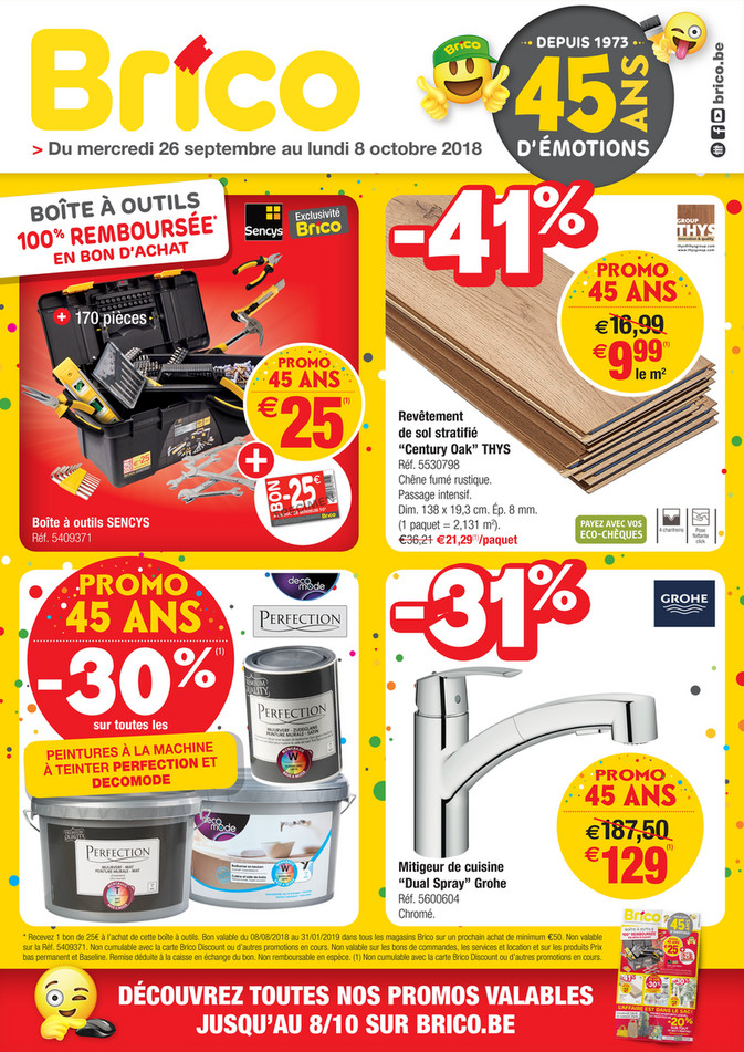 Folder Brico du 26/09/2018 au 08/10/2018 - Promotions de la semaine 39