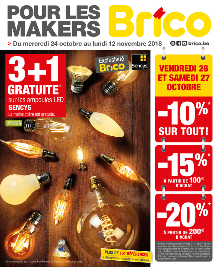 Folder Brico du 24/10/2018 au 12/11/2018 - Promotions de la semaine 43