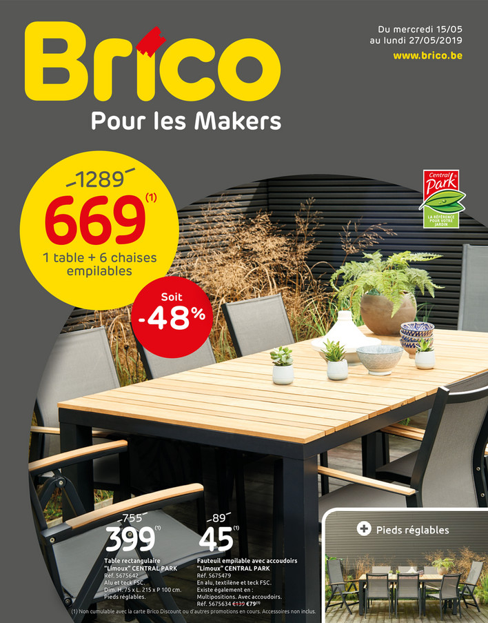 Folder Brico du 15/05/2019 au 27/05/2019 - Promotions de la semaine 20b