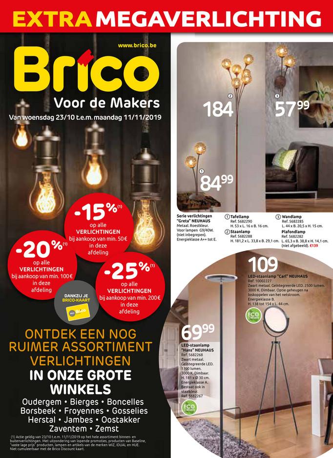 Brico folder van 23/10/2019 tot 11/11/2019 - Promoties van de week 43