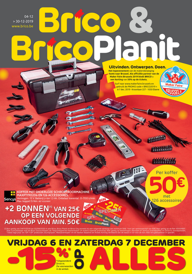 Brico folder van 04/12/2019 tot 30/12/2019 - Weekpromoties 49