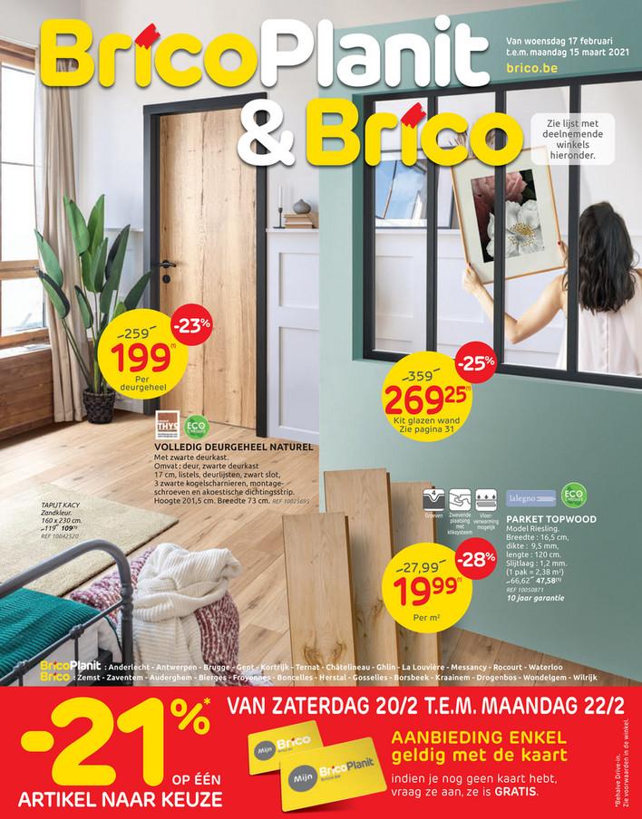 Brico&BricoPlanit folder van 17/02/2021 tot 15/03/2021 - Maandpromoties februari 2