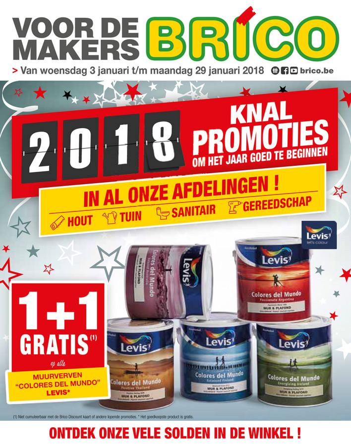 Brico folder van 01/01/2018 tot 29/01/2018 - weekaanbiedingen Solden nieuwe jaar 2018