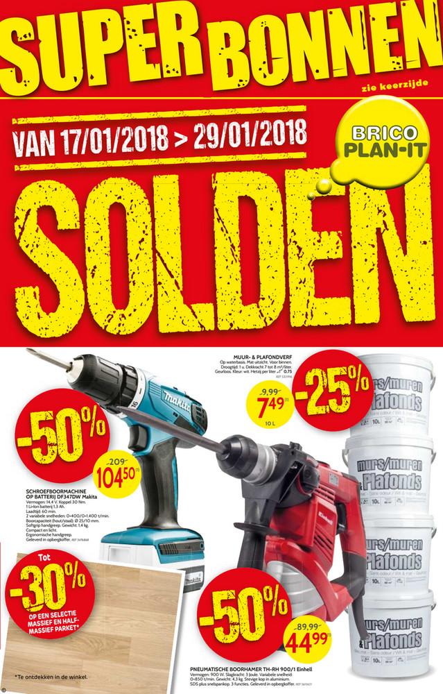 Brico folder van 22/01/2018 tot 29/01/2018 - Brico Plan-it solden & superbonnen