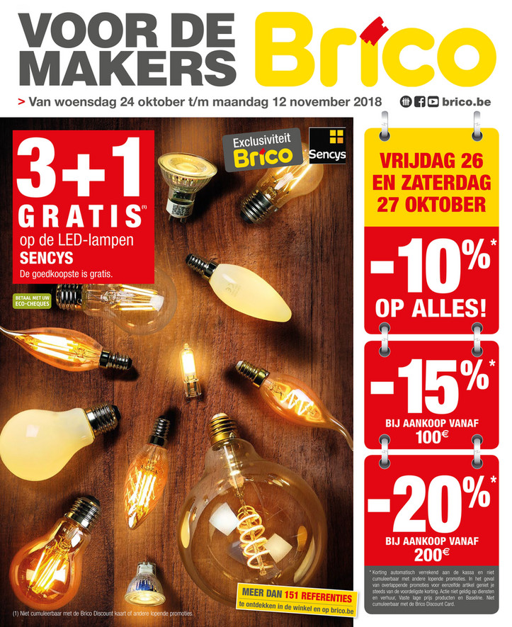 Brico folder van 24/10/2018 tot 12/11/2018 - Promoties van de week 43