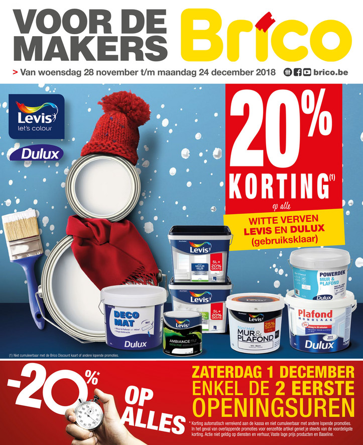 Brico folder van 28/11/2018 tot 24/12/2018 - Promoties van de week 48a