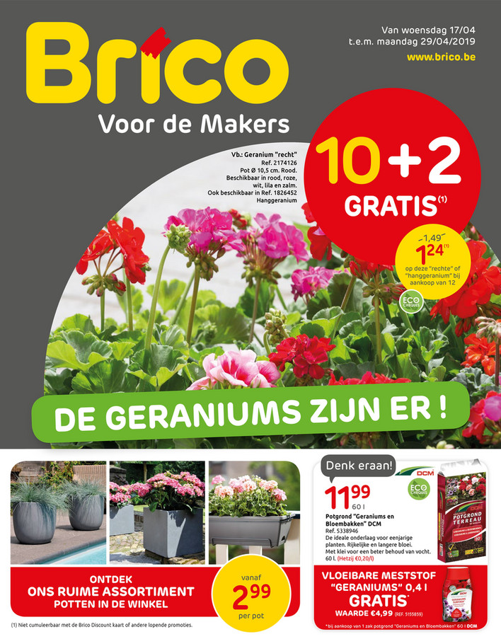 Brico folder van 17/04/2019 tot 29/04/2019 - Promoties van de week 15b