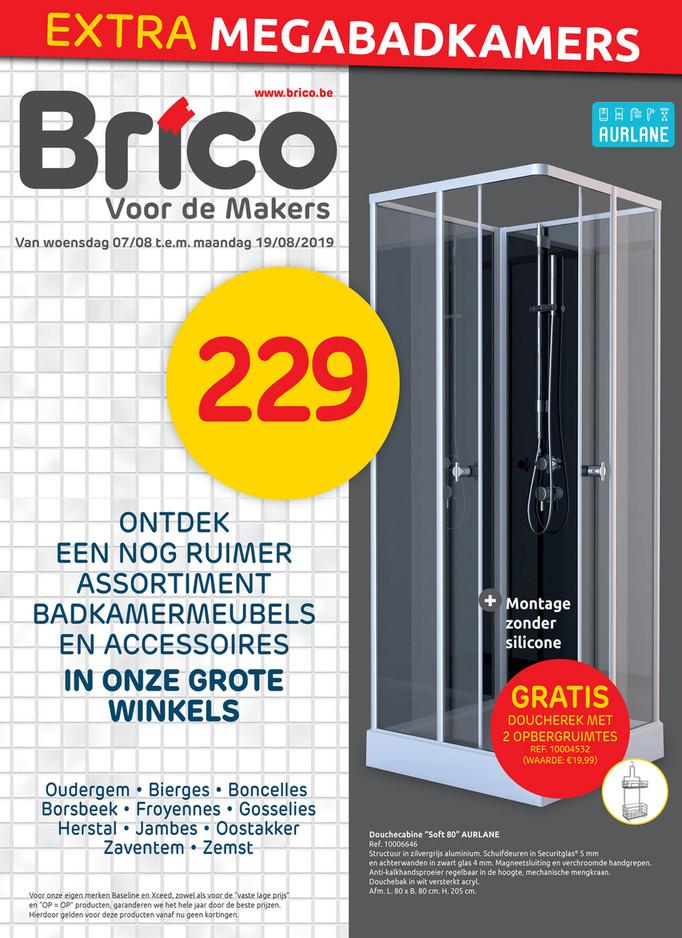 Brico folder van 07/08/2019 tot 19/08/2019 - Promoties van de week 32