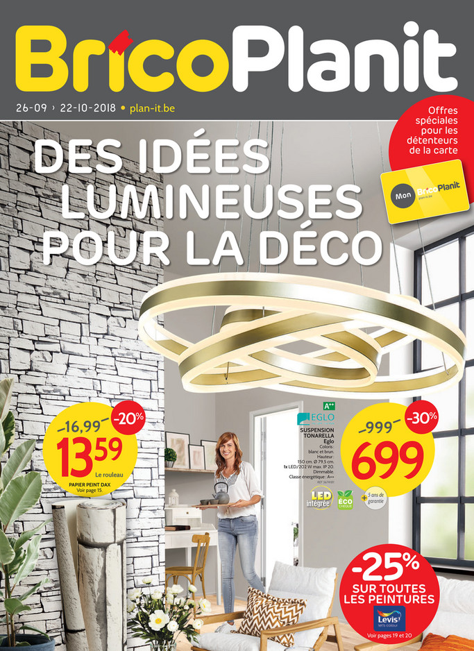 Folder Brico Plan It du 26/09/2018 au 22/10/2018 - Promotions de la semaine 39