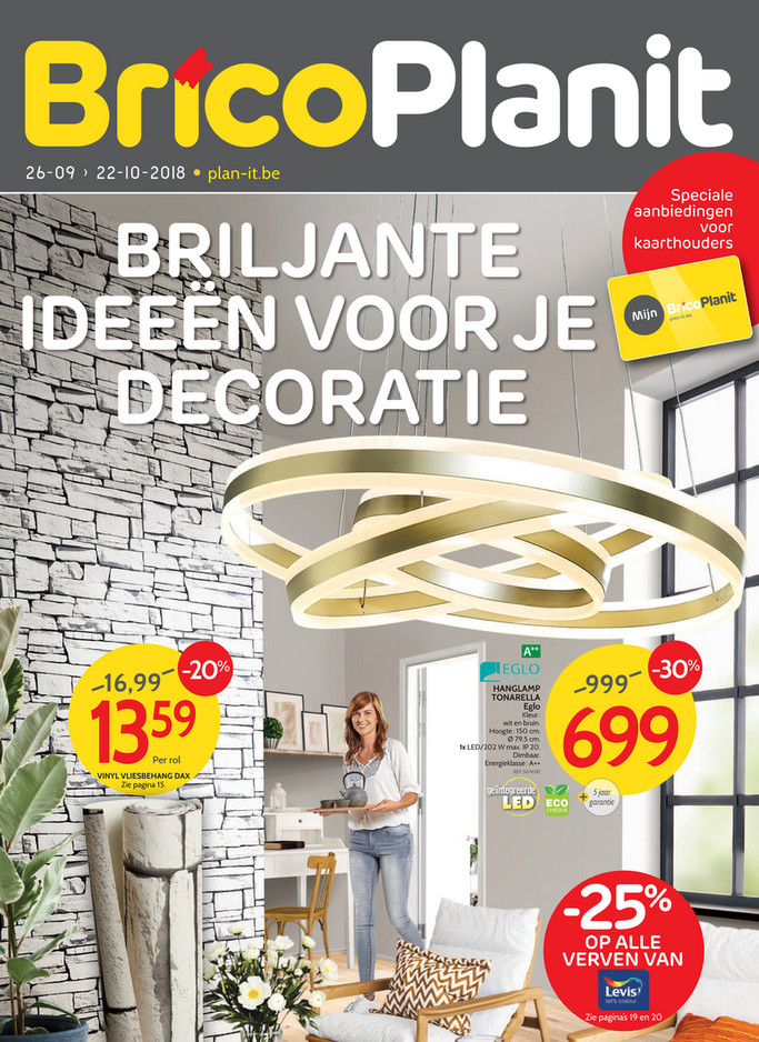 Brico Plan It folder van 26/09/2018 tot 22/10/2018 - Promoties van de week 39