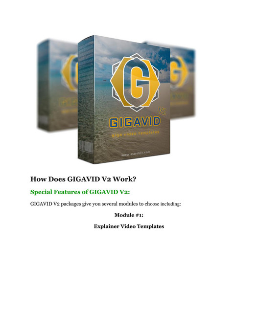 My publications - GIGAVID V2 REVIEW and GIANT $21600 bonuses
