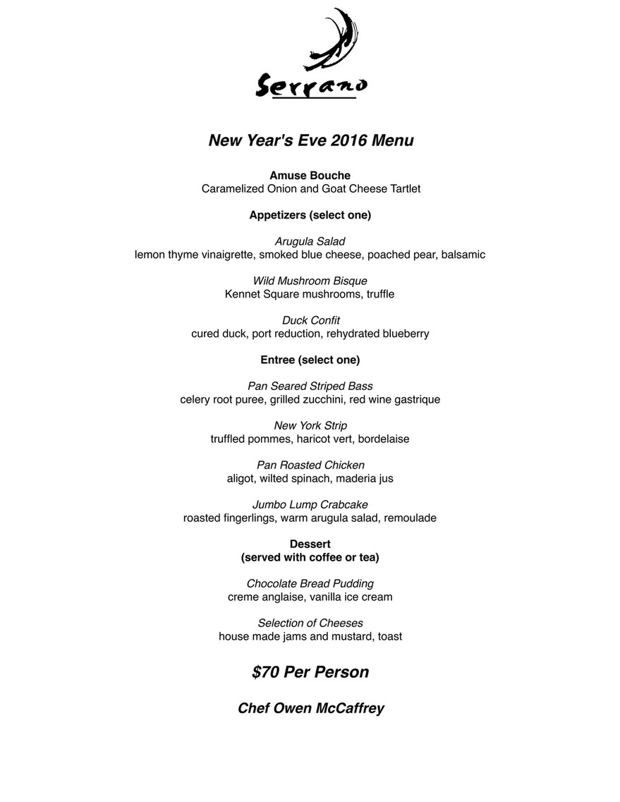 new years eve 2016 menu amuse bouche caramelized onion and goat cheese tartlet appetizers select