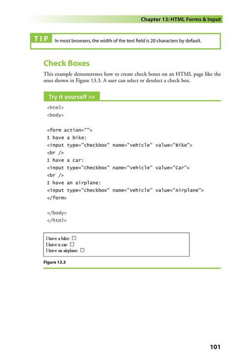 Html checkbox default selected