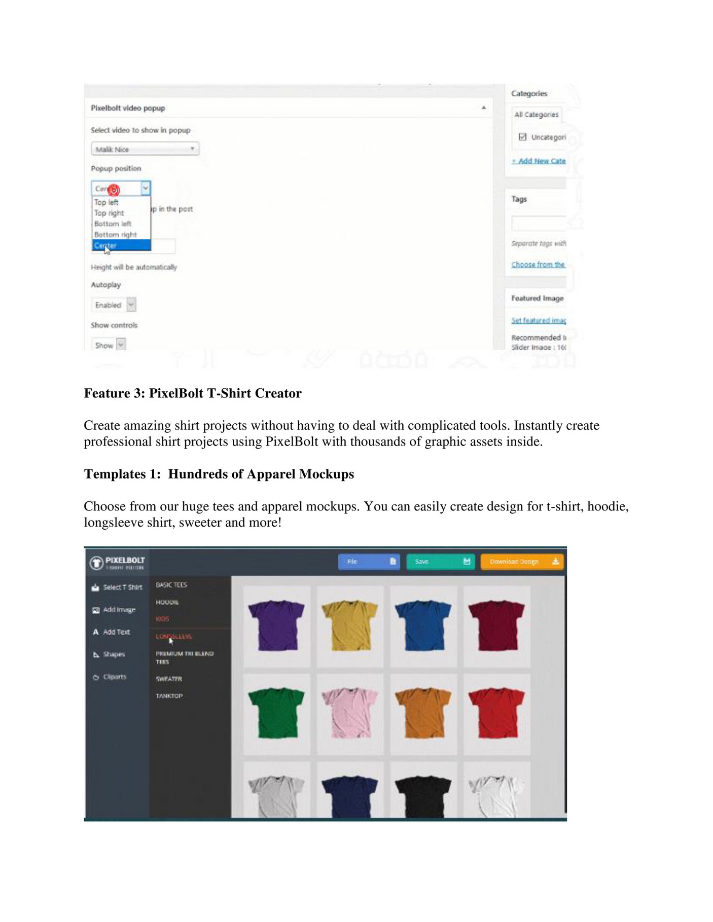 Shirt design editor