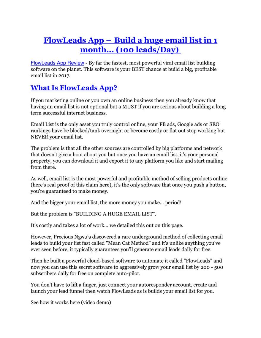 Ggd Flowleads App Review Biggest Jaw Drop Bonuses Page 1