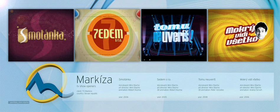Markza Tv Show Openers Client TV Country Slovak Republic Smotnka Sedem S Ro
