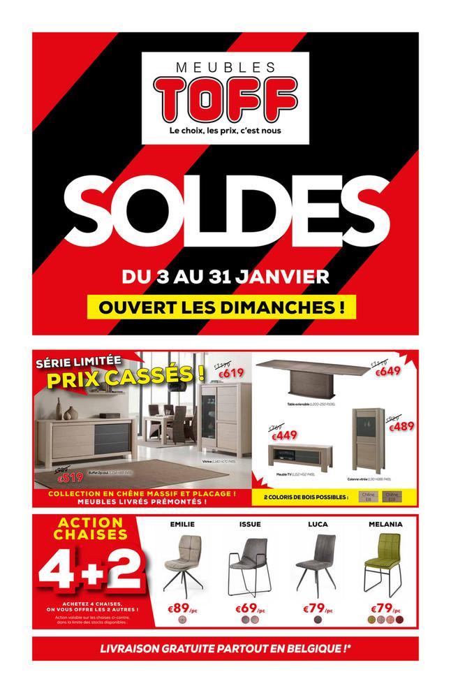 Folder Meubles et cuisines Toff du 03/01/2020 au 31/01/2020 - Soldes