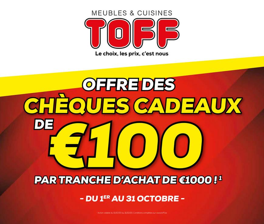 Folder Meubles et cuisines Toff du 01/10/2020 au 31/10/2020 - Promotions du mois Octobre
