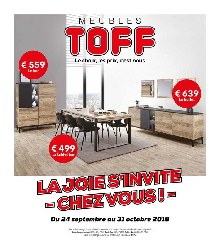 Folder Toff  du 24/09/2018 au 31/10/2018 - Promotions de la semaine 39