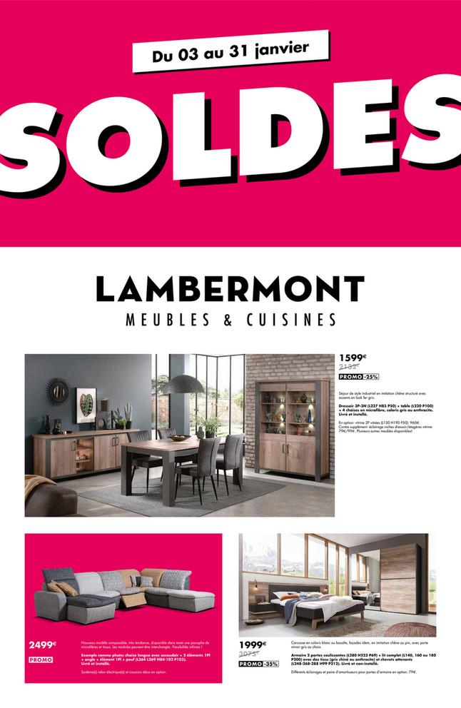 Folder Lambermont du 03/01/2019 au 31/01/2019 - Promotions de la semaine 1