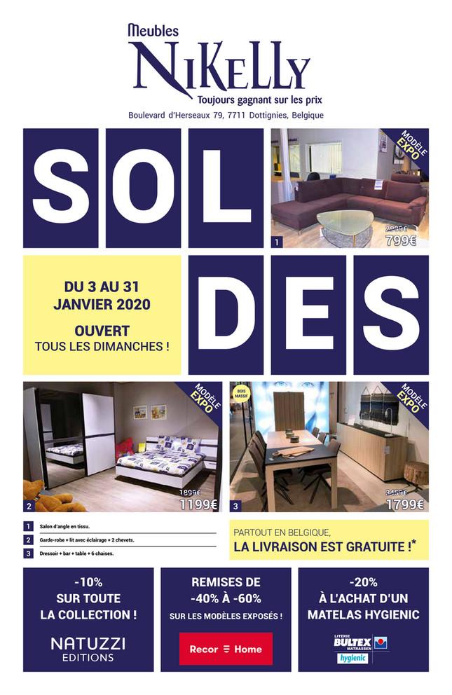 Folder Meubles Nikelly du 03/01/2020 au 31/01/2020 - Soldes