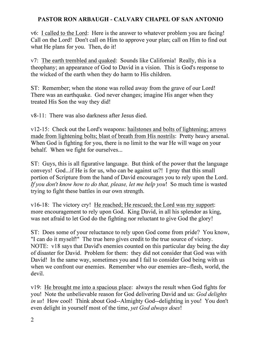 Calvary Chapel of San Antonio - Psalms18-19 - Page 2 - Created with