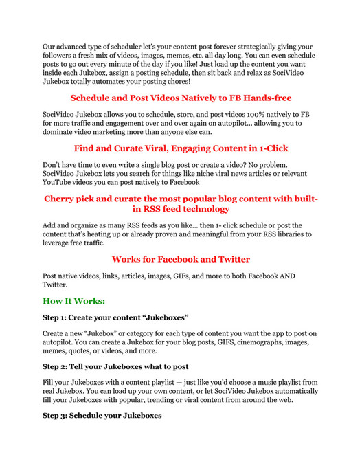 My publications - SociVideo Jukebox review and $26,900 bonus