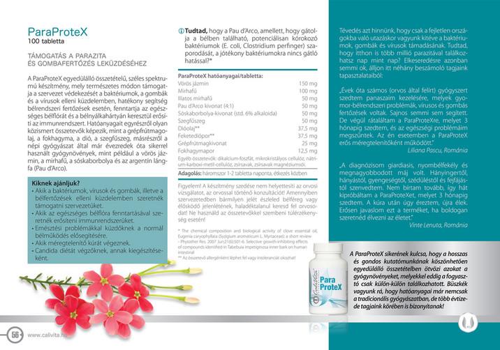 204a8d88ae ParaProteX 100 tabletta TÁMOGATÁS A PARAZITA ÉS GOMBAFERTŐZÉS LEKÜZDÉSÉHEZ  A ParaProteX egyedülálló összetételű, széles spektrumú