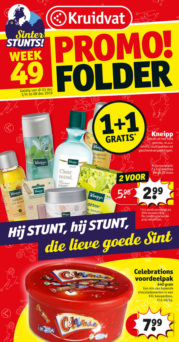 Kruidvat folder van 03/12/2019 tot 08/12/2019 - Weekpromoties 49