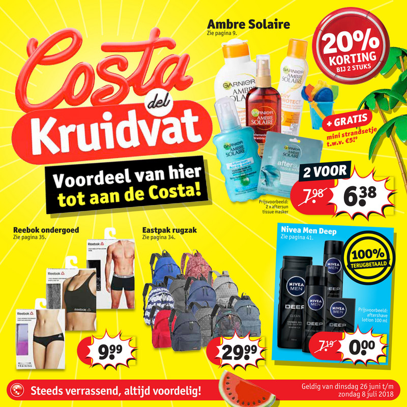 Kruidvat folder van 24/06/2018 tot 08/07/2018 - Kruidvat Costa NL