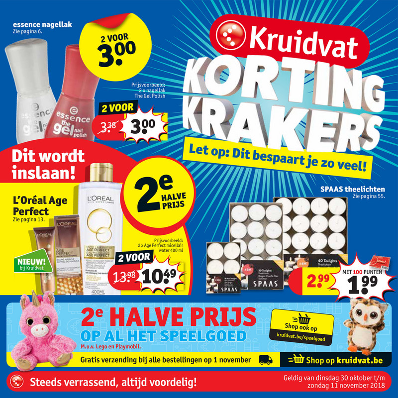 Kruidvat folder van 30/10/2018 tot 11/11/2018 - Weekpromoties 44